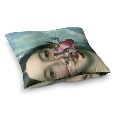 Setsu Egawa Clam and Paulownia Square Floor Pillow Size: 26 x 26
