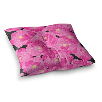 Skye Zambrana in Bloom Square Floor Pillow Size: 23 x 23, Color: Pink