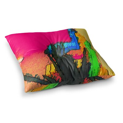 Oriana Cordero Days of Summer Rainbow Square Floor Pillow Size: 23 x 23