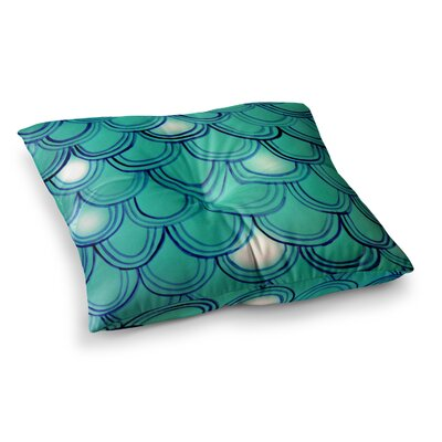 Theresa Giolzetti Mermaid Tail Square Floor Pillow Size: 23 x 23