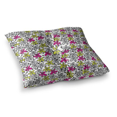 Nandita Singh Floral Spread Square Floor Pillow Size: 26 x 26