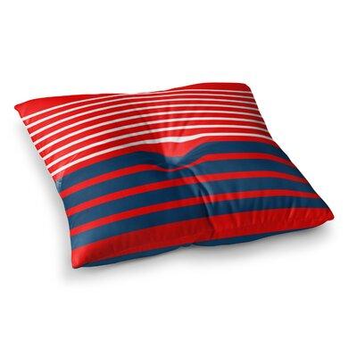 Trebam Nauticki Lines Square Floor Pillow Size: 26 x 26