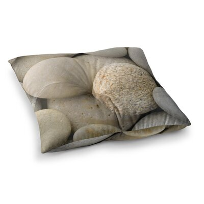 Susan Sanders River Stones Square Floor Pillow Size: 26 x 26