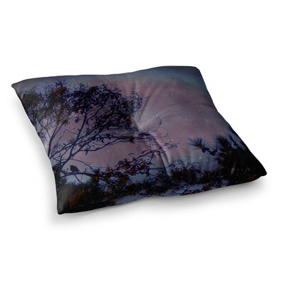 Robin Dickinson Twilight Tree Square Floor Pillow Size: 26 x 26