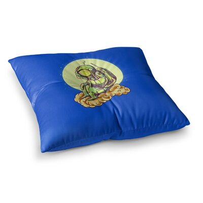 BarmalisiRTB Why in the Cloud Illustration Square Floor Pillow Size: 23 x 23