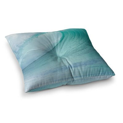 Susan Sanders Ocean Wave Square Floor Pillow Size: 23 x 23
