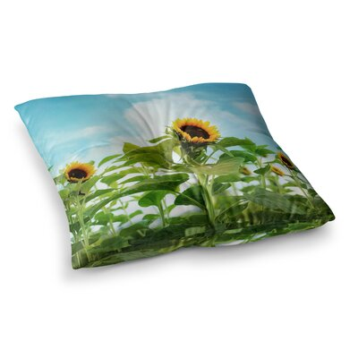 Sylvia Cook Sunflower Field Square Floor Pillow Size: 26 x 26