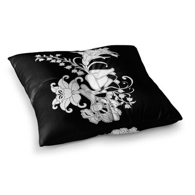 Vikki Salmela My Garden Square Floor Pillow Size: 26 x 26