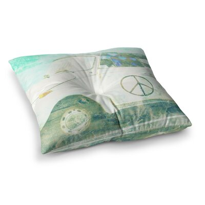 Robin Dickinson Love Bug Square Floor Pillow Size: 26 x 26