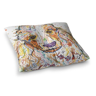 Rebecca Fischer Lily Poodle Square Floor Pillow Size: 23 x 23