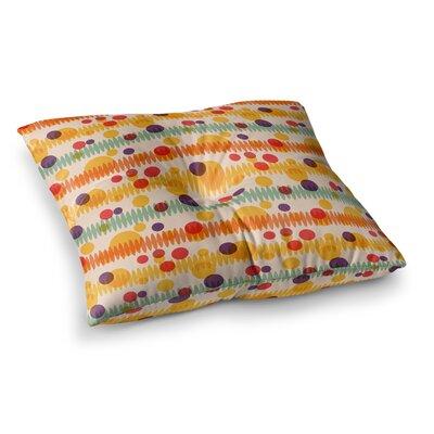 Yenty Jap Bubble Stripes Fun Geometric Square Floor Pillow Size: 26 x 26