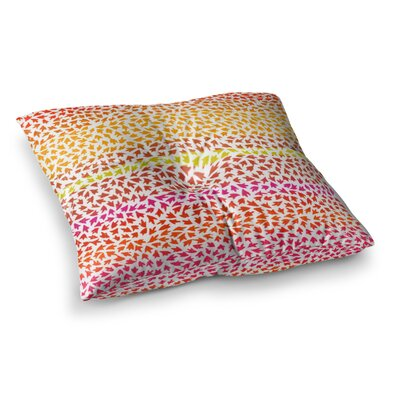Sreetama Ray Sunset Arrows Abstract Square Floor Pillow Size: 23 x 23