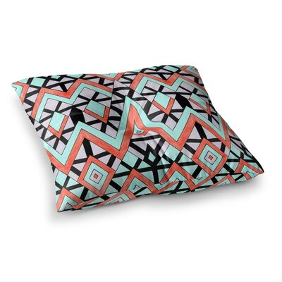 Pom Graphic Design Geometric Mountains Square Floor Pillow Size: 26 x 26