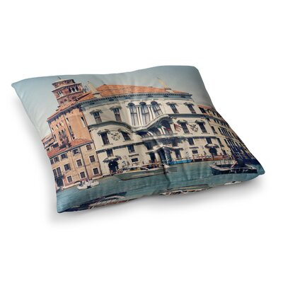 Sylvia Coomes Venice 6 Travel Coastal Square Floor Pillow Size: 26 x 26
