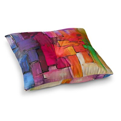 Oriana Cordero interlace Square Floor Pillow Size: 23 x 23