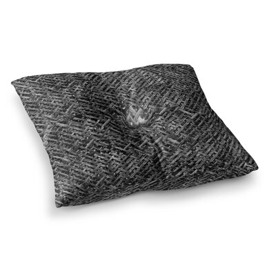 Susan Sanders Bamboo Weave Photography Square Floor Pillow Size: 23 x 23, Color: Black