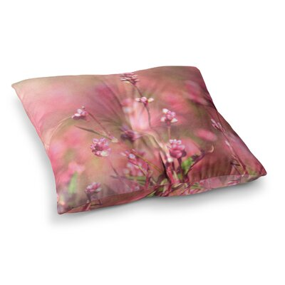 Robin Dickinson Its a Sweet Sweet Life Flowers Square Floor Pillow Size: 23 x 23