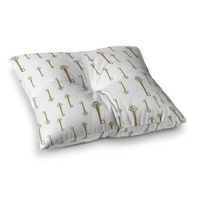 Suzanne Carter Vintage Keys II Square Floor Pillow Size: 23 x 23