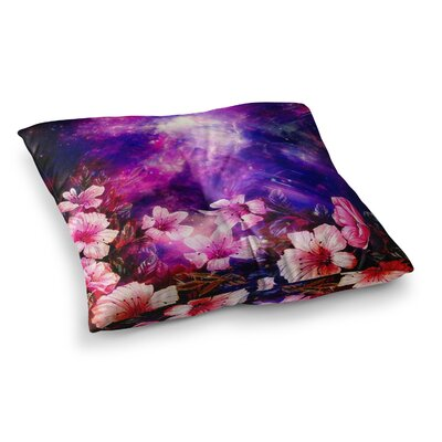 Shirlei Patricia Muniz Space Flowers Square Floor Pillow Size: 26 x 26
