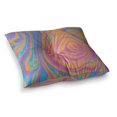 Viviana Gonzalez Suminagashi 01 Painting Square Floor Pillow Size: 26 x 26
