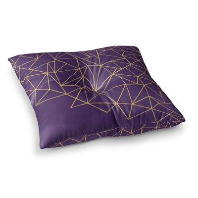 Project M Ab Storm Digital Square Floor Pillow Size: 26 x 26, Color: Lavender