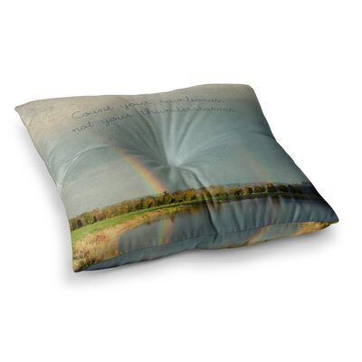 Robin Dickinson Count Rainbows Nature Typography Square Floor Pillow Size: 26 x 26