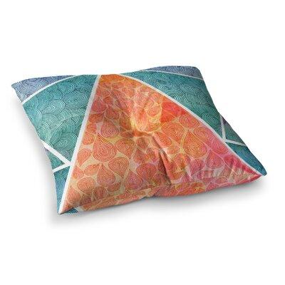 Pom Graphic Design Pyramids of Giza Square Floor Pillow Size: 26 x 26