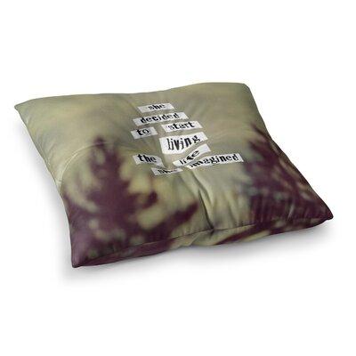 Rachel Burbee Her Life Square Floor Pillow Size: 26 x 26