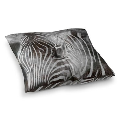 Suzanne Carter Space Zebra Celestial Stripes Square Floor Pillow Size: 23 x 23
