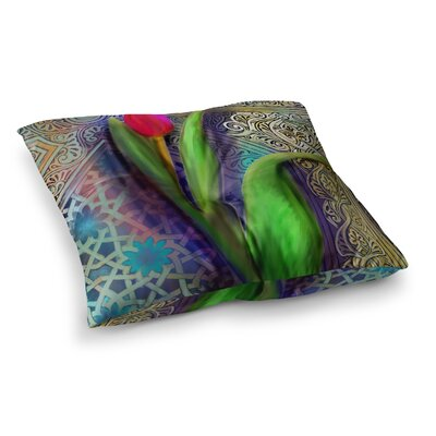 S. Seema Z Arabesque Tulip Square Floor Pillow Size: 23 x 23