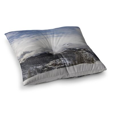 Juan Paolo Top of The Summit Square Floor Pillow Size: 23 x 23