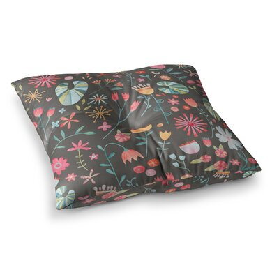 Nic Squirrell Wayside Flowers Floral Square Floor Pillow Size: 23 x 23