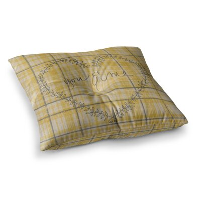Robin Dickinson You and Me Square Floor Pillow Size: 26 x 26