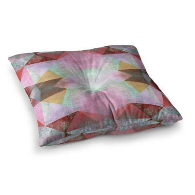 Pia Schneider Polygon Diamond I Mixed Media Square Floor Pillow Size: 26 x 26