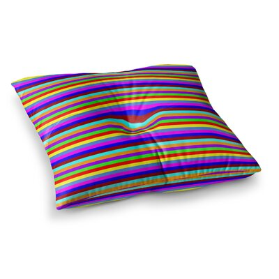 Trebam Bombon Stripes Square Floor Pillow Size: 26 x 26