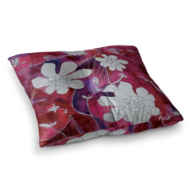 Theresa Giolzetti Succulent Dance II Square Floor Pillow Size: 23 x 23, Color: Pink