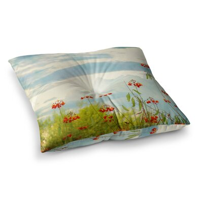 Sylvia Coomes Cardinal Photography Square Floor Pillow Size: 23 x 23