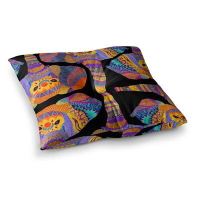 Pom Graphic Design the Elephant in the Room Tribal Square Floor Pillow Size: 23 x 23