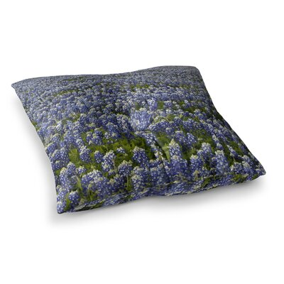 Susan Sanders Flower Lavender Fields Photography Square Floor Pillow Size: 23 x 23