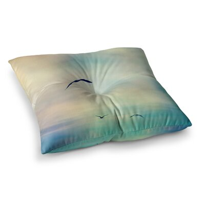 Sylvia Cook Freedom Birds Sky Square Floor Pillow Size: 23 x 23