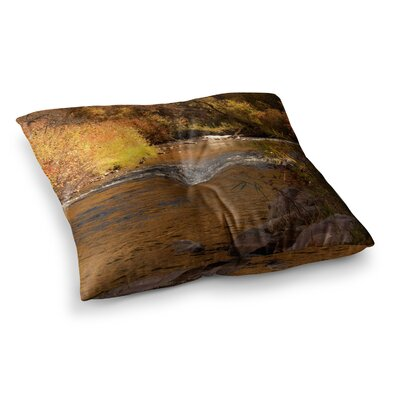 Sylvia Coomes Autumn Stream Square Floor Pillow Size: 26 x 26