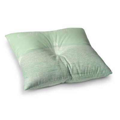 Robin Dickinson Carpe Diem Ocean Square Floor Pillow Size: 26
