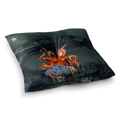 Suzanne Carter Under The Deep Sea Square Floor Pillow Size: 26 x 26
