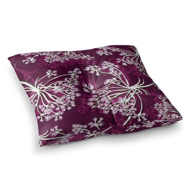 Suzie Tremel Squiggly Floral Square Floor Pillow Size: 26 x 26