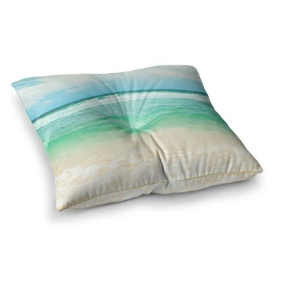 Sylvia Cook Endless Sea Coastal Square Floor Pillow Size: 23 x 23