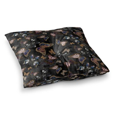 Nikki Strange Galactic Butterfly Square Floor Pillow Size: 23 x 23