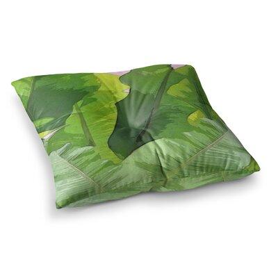 Oriana Cordero Banana Tropics Square Floor Pillow Size: 23 x 23