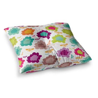 Nicole Ketchum Bee Highway Square Floor Pillow Size: 23 x 23