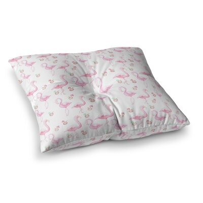 Stephanie Vaeth Flamingos Painting Square Floor Pillow Size: 23 x 23