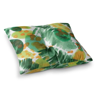 Yenty Jap Tropical Plants Leaves Square Floor Pillow Size: 23 x 23